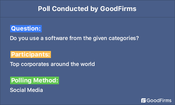 Do you use a software from given categories?