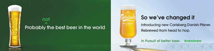 Carlsberg Ad - Probably not the best beer!