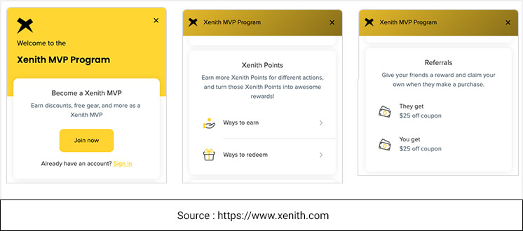 Example of Affiliate Rewards Program for eCommerce