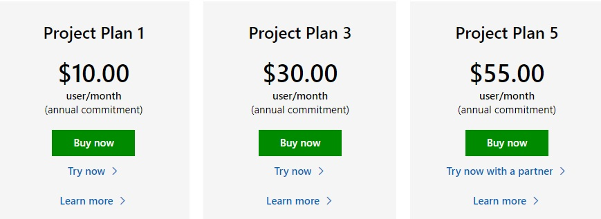 Microsoft project plans