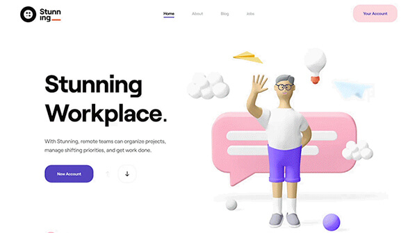 Example Of Parallax Animations In Web Design